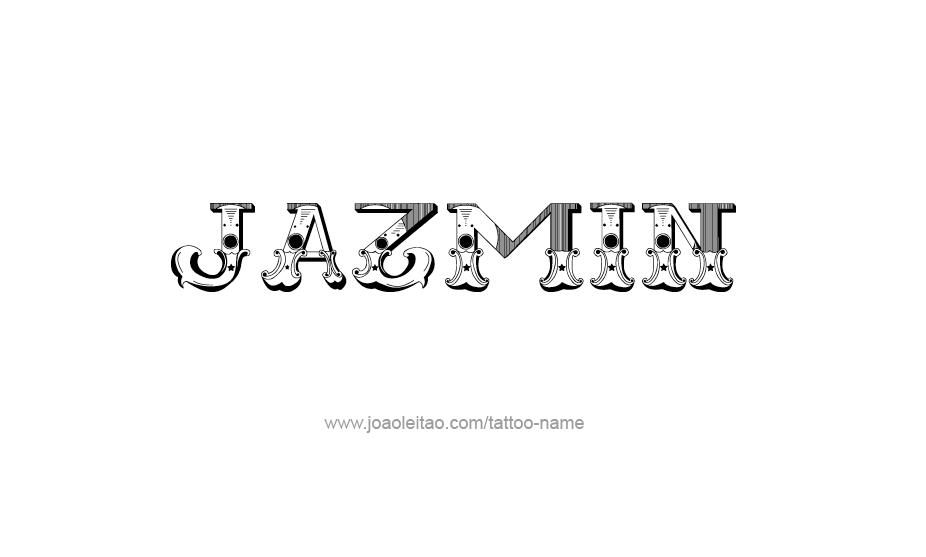 Nombre Jazmin En Graffiti
