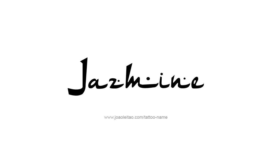Tattoo Design Name Jazmine