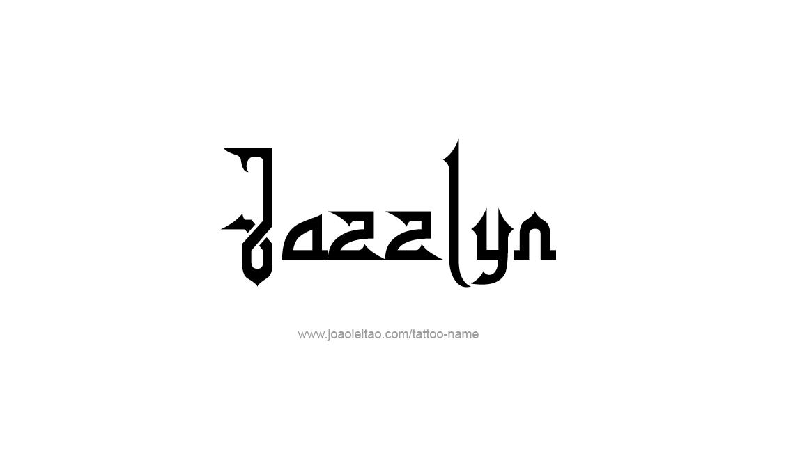 Tattoo Design Name Jazzlyn