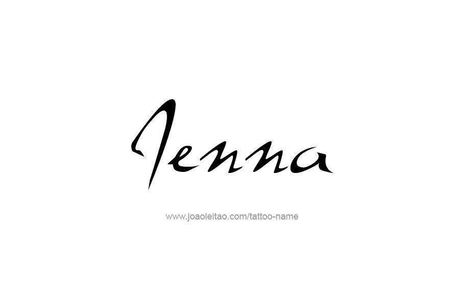 Tattoo Design Name Jenna