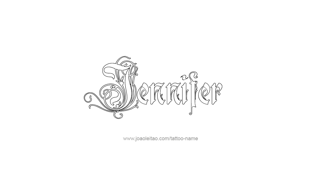 Jennifer Name Tattoo Designs