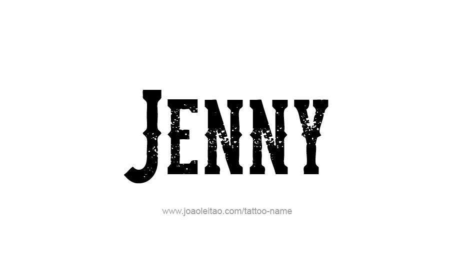 Tattoo Design Name Jenny