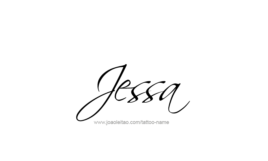 Tattoo Design Name Jessa