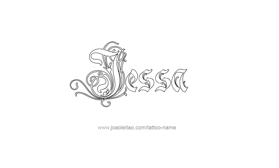 Tattoo Design Name Jessa