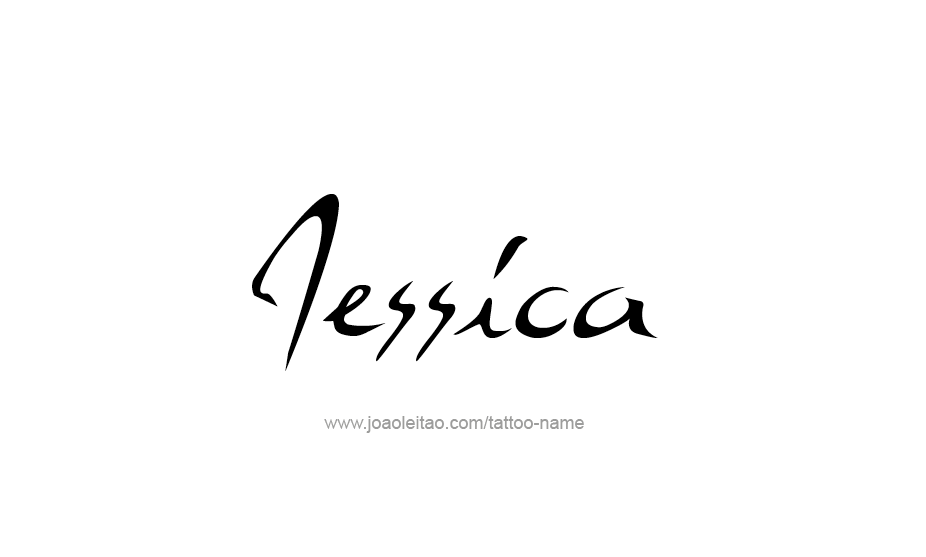Tattoo Design Name Jessica