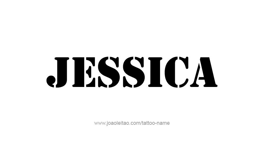 Tattoo Design Name Jessica