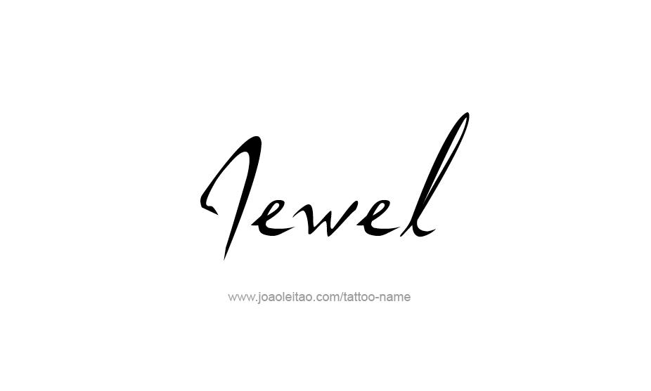 Tattoo Design Name Jewel