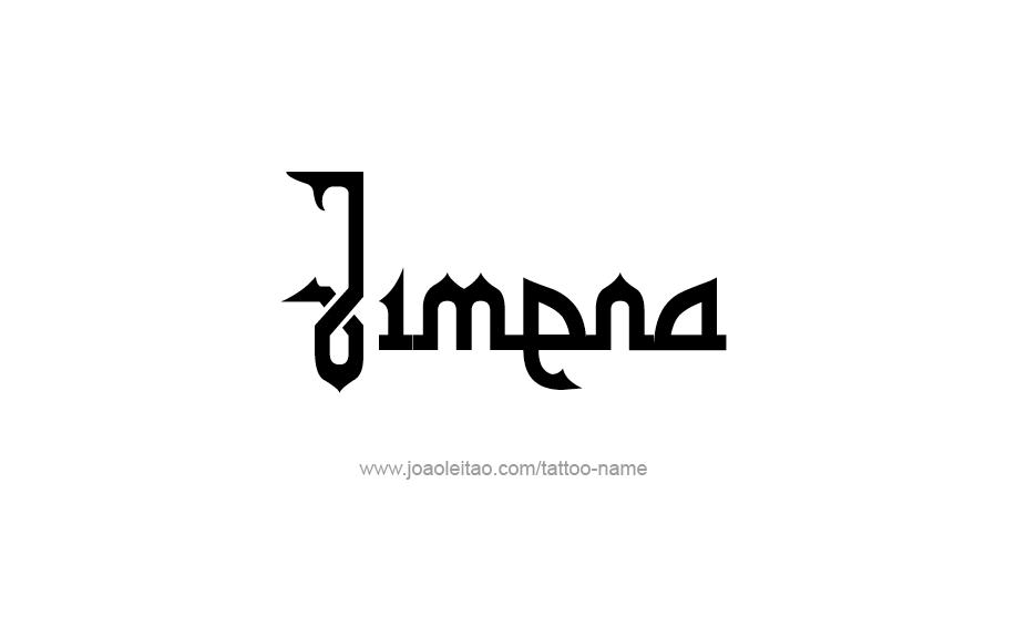 Tattoo Design Name Jimena