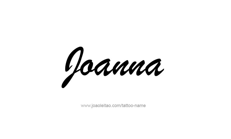joanna name tattoo designs