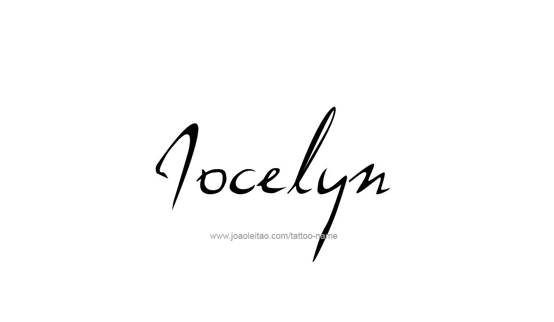 Tattoo Design Name Jocelyn
