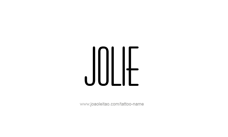 Tattoo Design Name Jolie