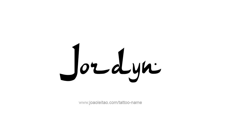 Tattoo Design Name Jordyn