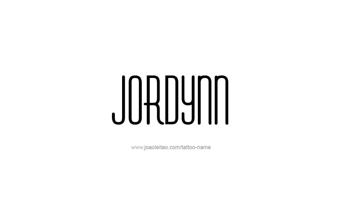 Tattoo Design Name Jordynn