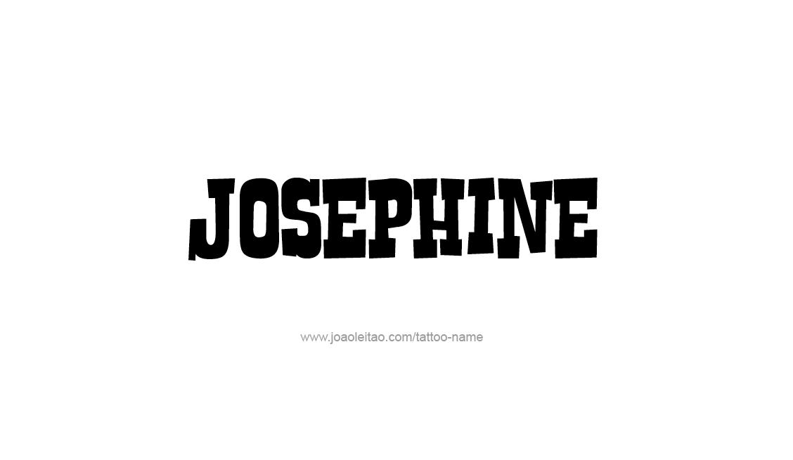 Tattoo Design Name Josephine