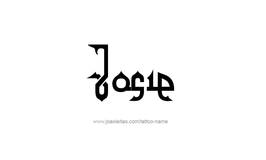 Tattoo Design Name Josie