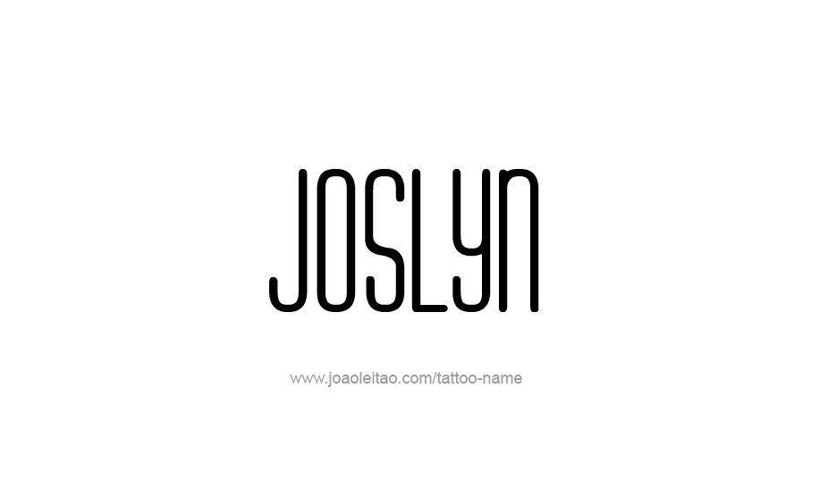 Tattoo Design Name Joslyn