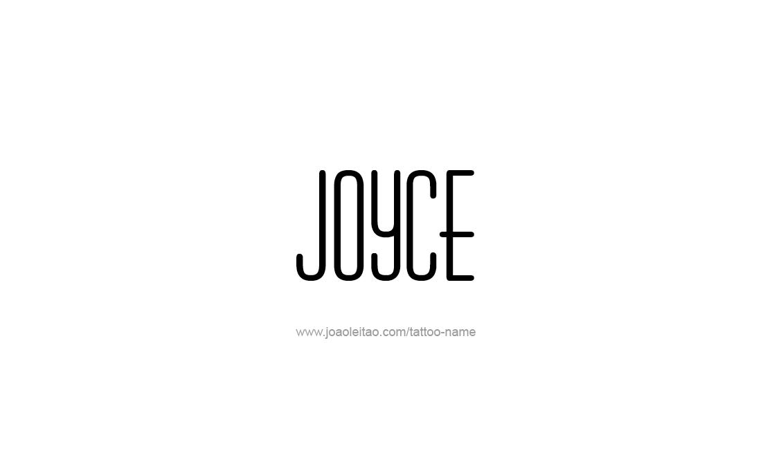 Tattoo Design Name Joyce