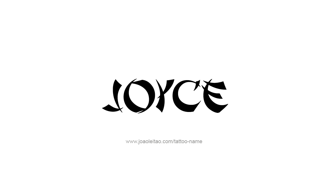 Tattoo Design Name Joyce