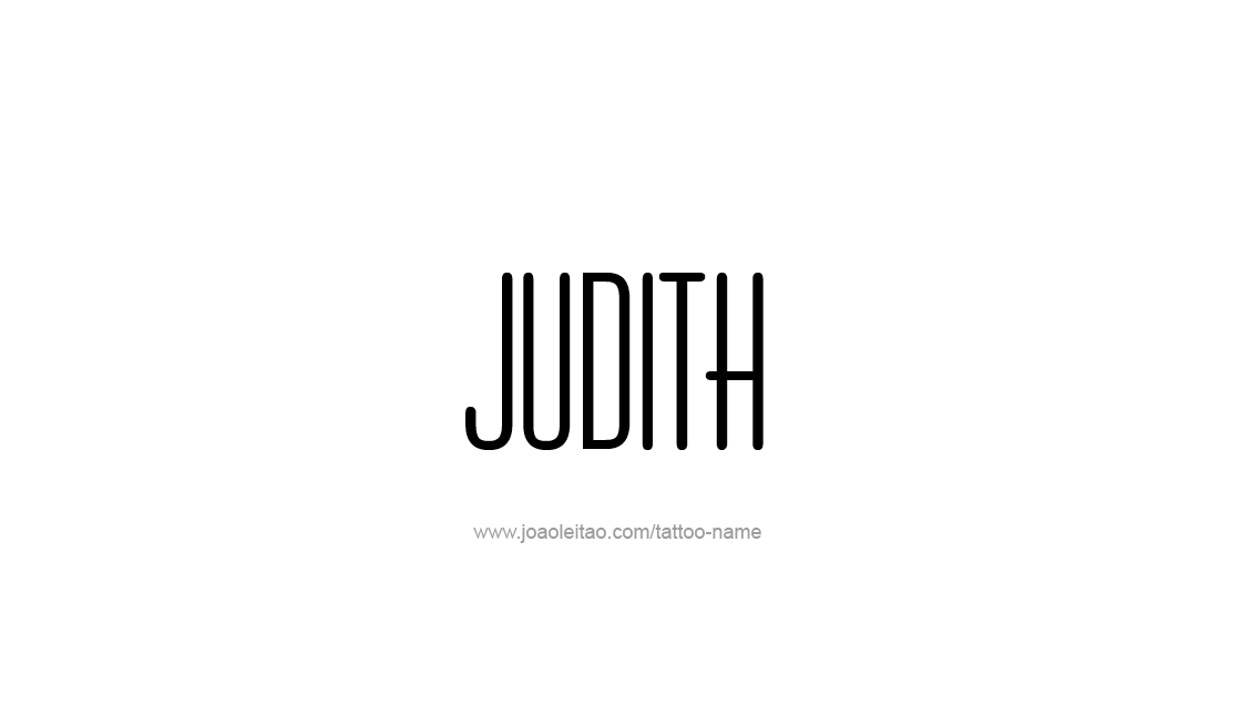 Tattoo Design Name Judith