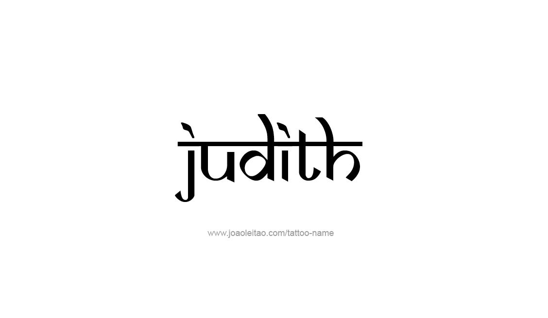 Judith Name Tattoo Designs