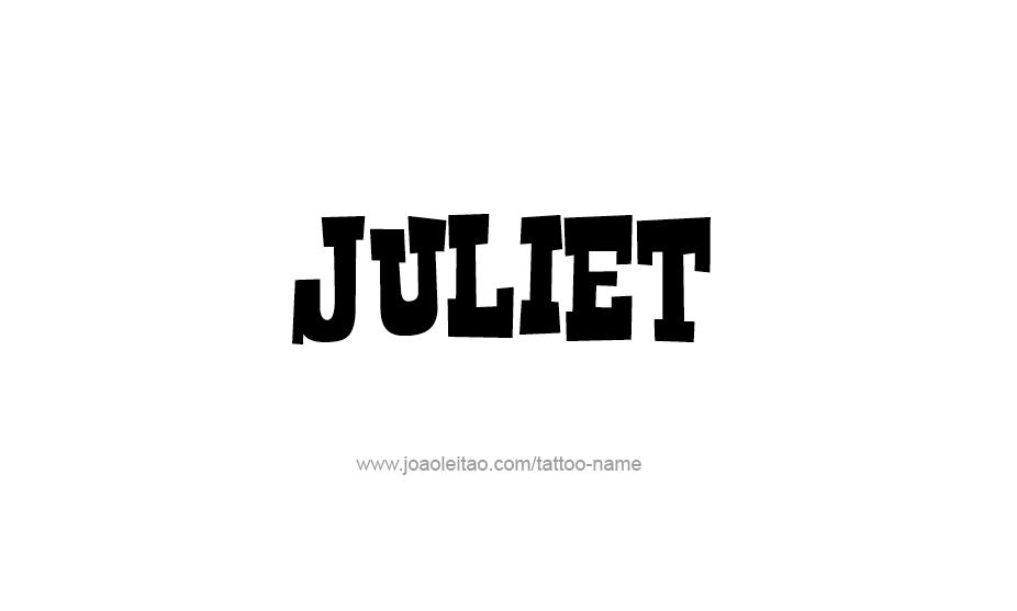 Tattoo Design Name Juliet