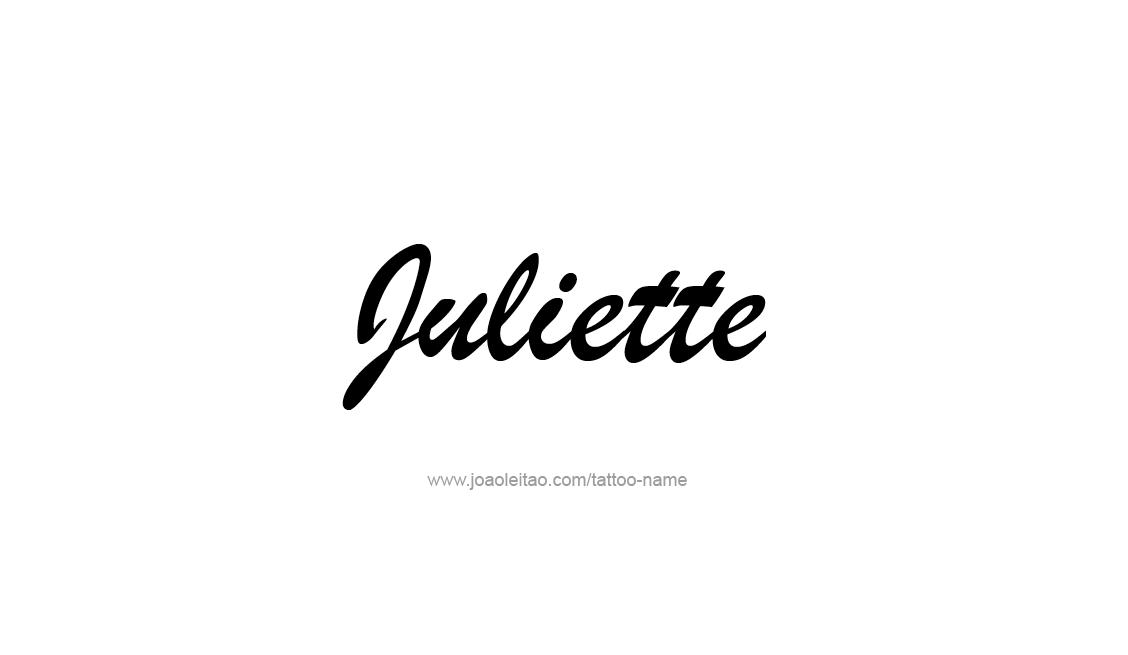 Tattoo Design Name Juliette