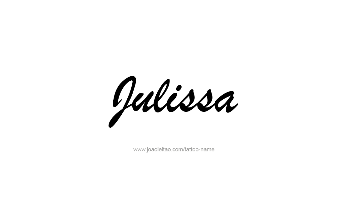 Tattoo Design Name Julissa