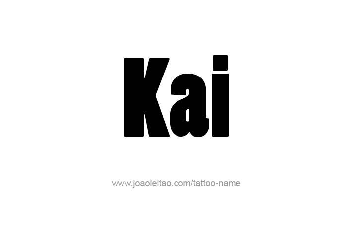Tattoo Design Name Kai