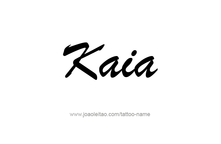 Tattoo Design Name Kaia