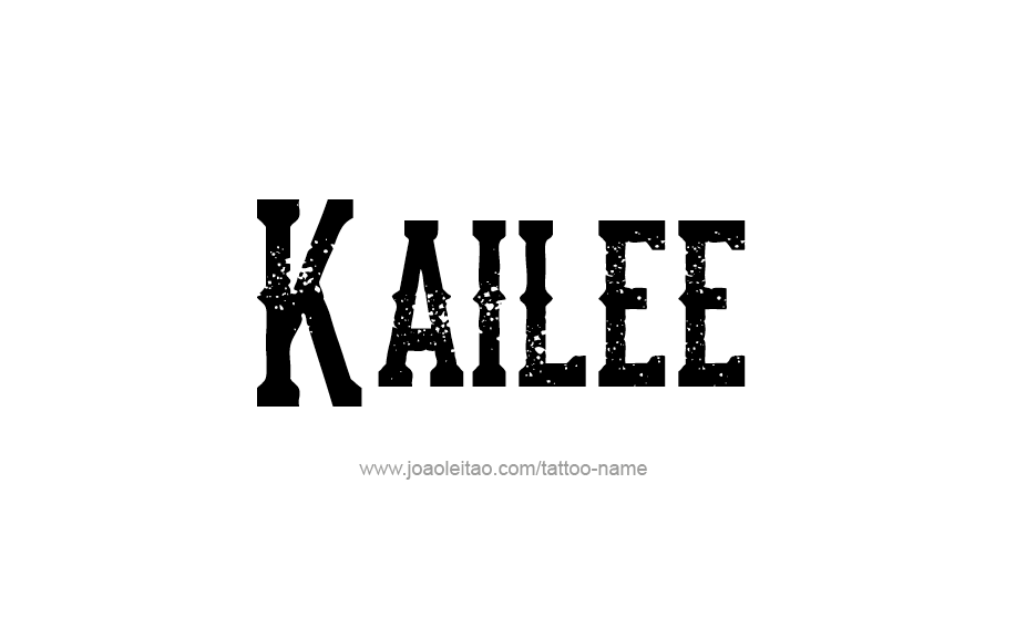 Tattoo Design Name Kailee