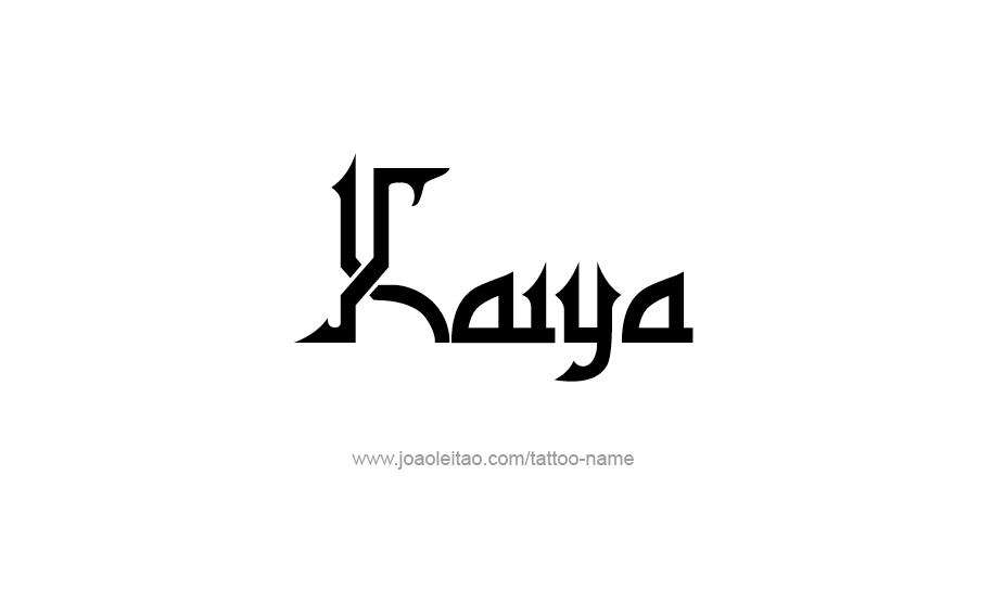 Tattoo Design Name Kaiya