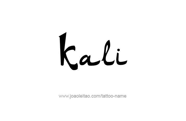 Kali Name Tattoo Designs