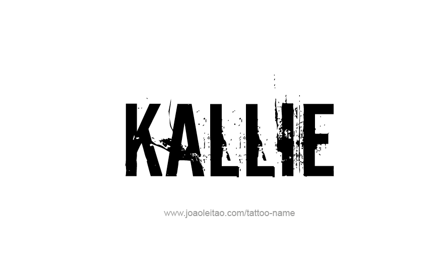 Tattoo Design Name Kallie
