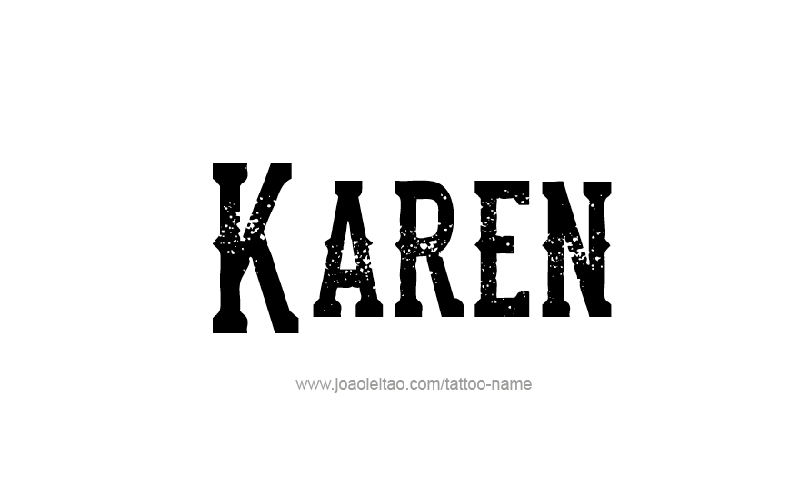 Karen in Hebrew
