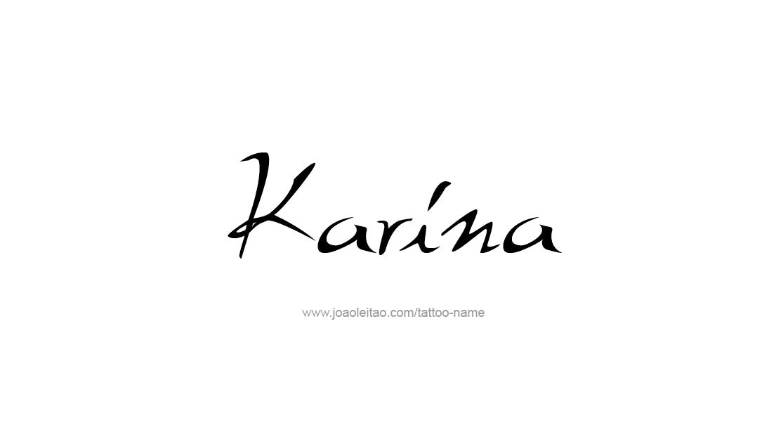 Tattoo Design Name Karina