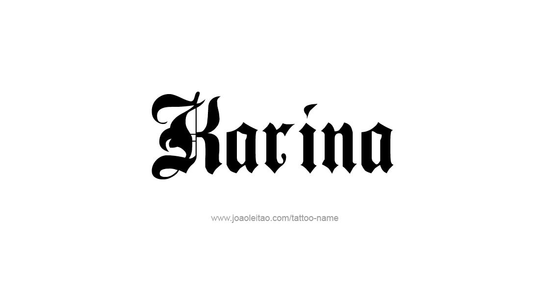 karina name tattoo designs