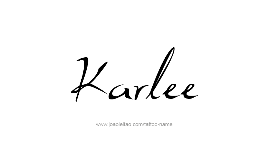 Tattoo Design Name Karlee