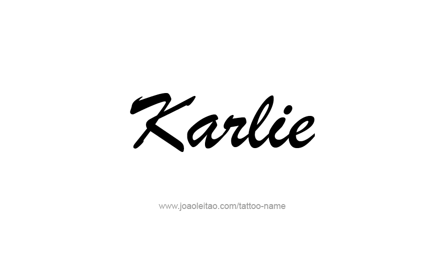 Tattoo Design Name Karlie