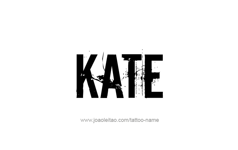 Tattoo Design Name Kate