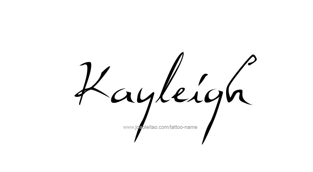 Tattoo Design Name Kayleigh