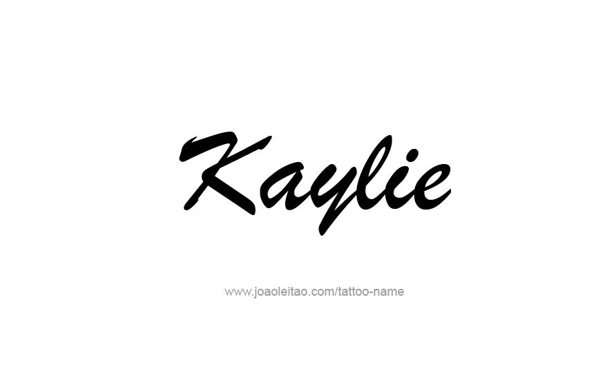 Tattoo Design Name Kaylie