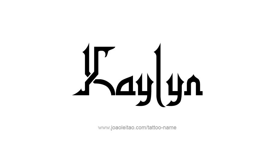 Tattoo Design Name Kaylyn
