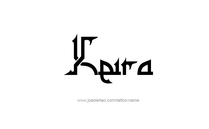 Tattoo Design Name Keira