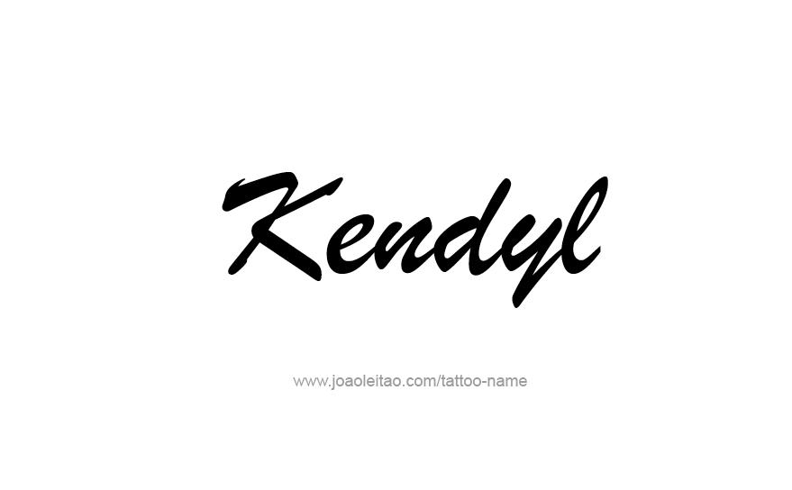 Tattoo Design Name Kendyl