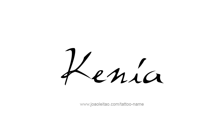 Tattoo Design Name Kenia