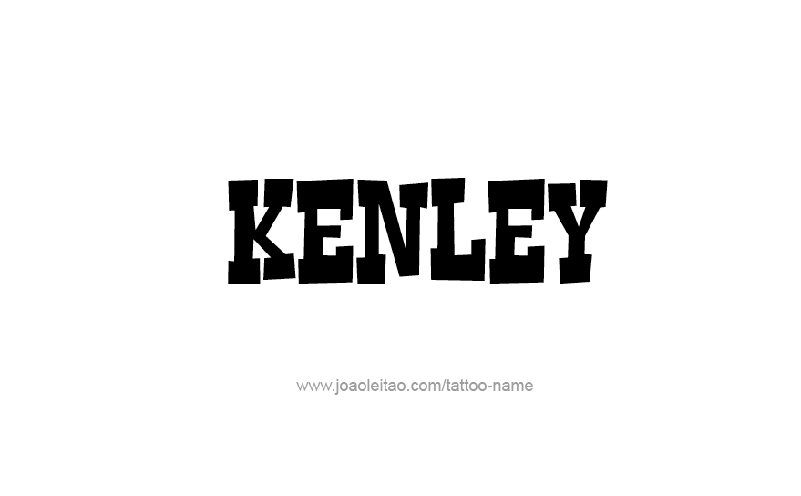 Tattoo Design Name Kenley