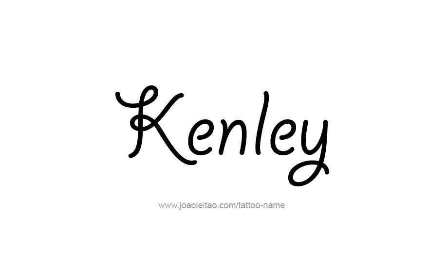 Tattoo Design Name Kenley