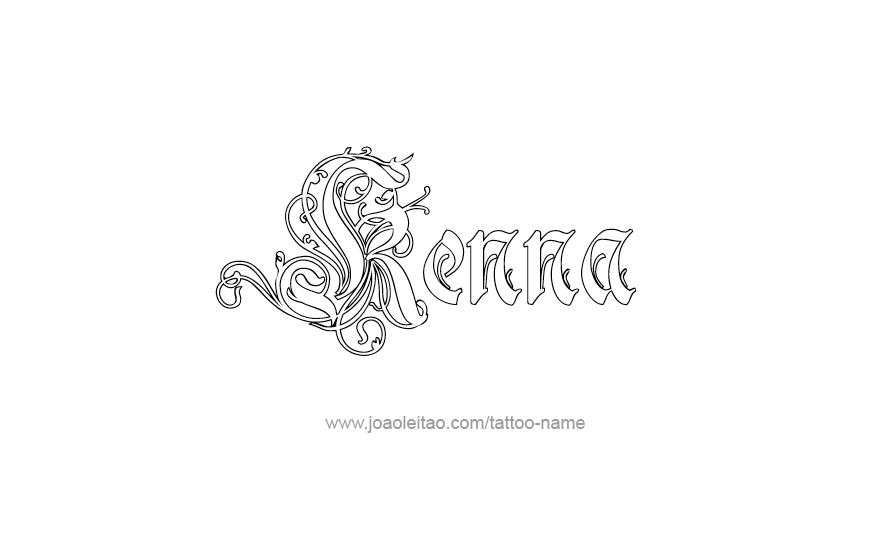 Tattoo Design Name Kenna
