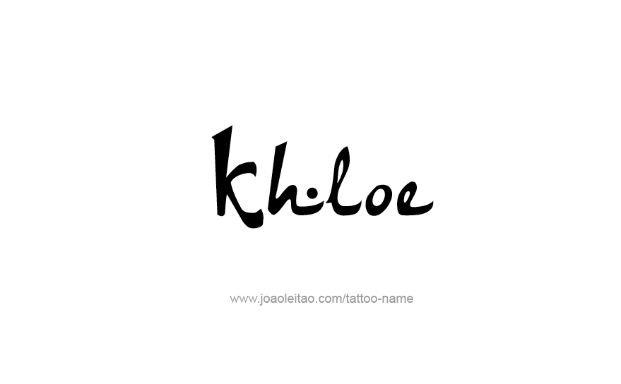 Tattoo Design Name Khloe