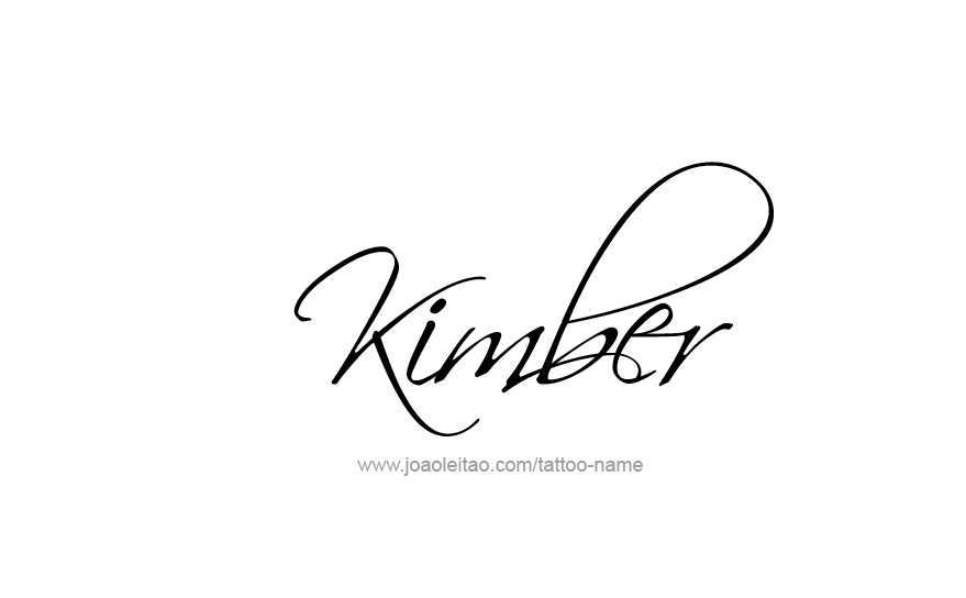Tattoo Design Name KImber